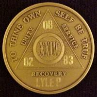 Alcoholics Anonymous Medallion