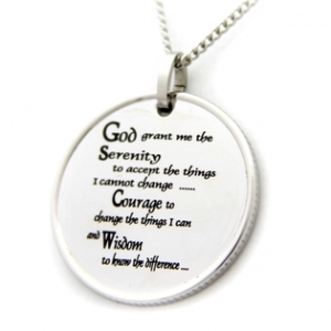 Coin Pendant Serenity Prayer | Necklace